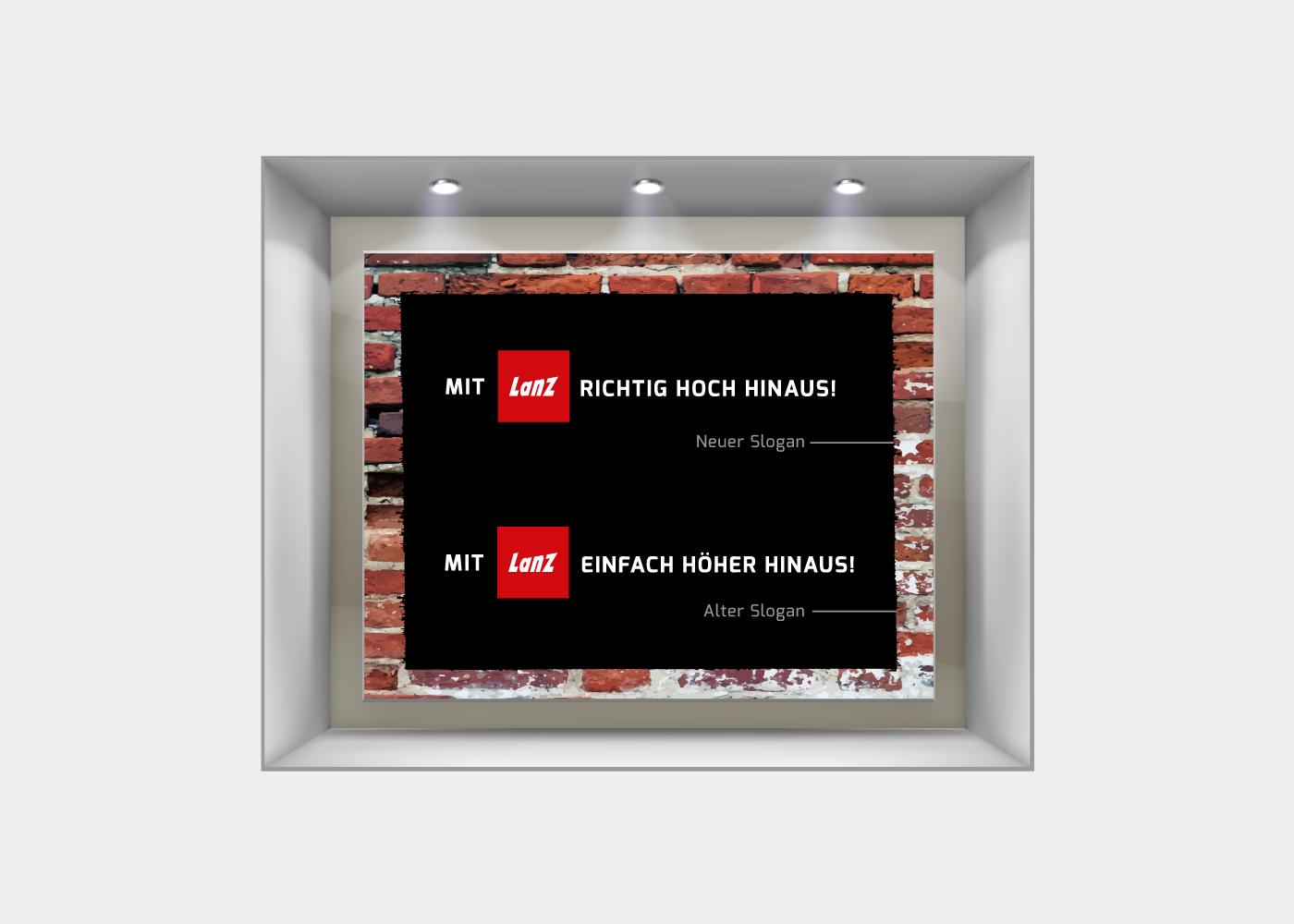 Schaufenster-Lanz-Sloganwechsel
